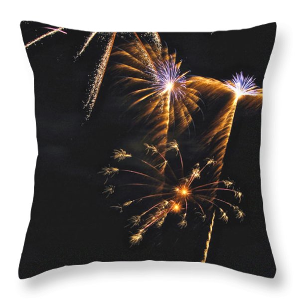 Fireworks 3 Throw Pillow by Michael Peychich