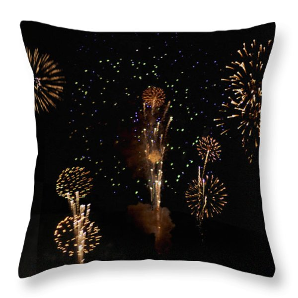 Fireworks Throw Pillow by Bill Cannon