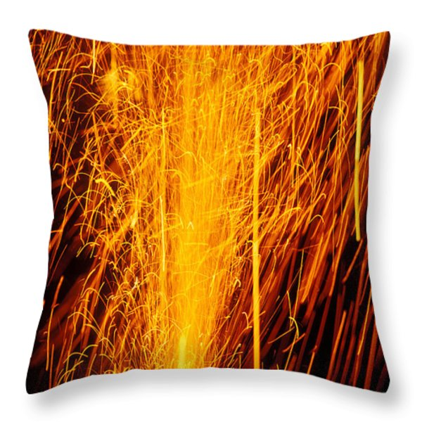 Fireworks Fountain Throw Pillow by Garry Gay