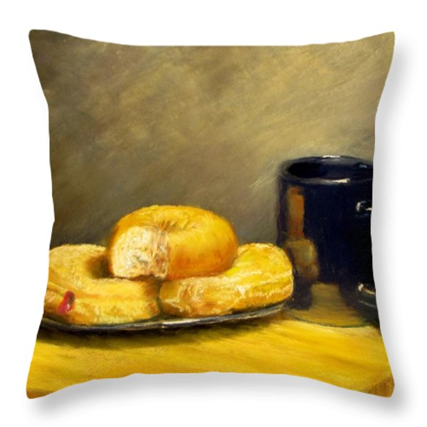 First Call...Breakfast Throw Pillow by Jack Skinner