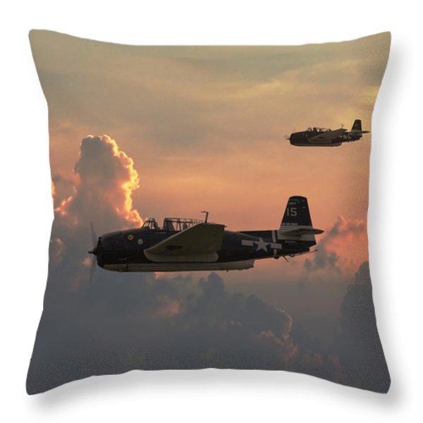 First Light Strike Throw Pillow by Pat Speirs