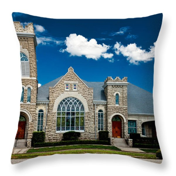 First Presbyterian Church Of Eustis Throw Pillow by Christopher Holmes