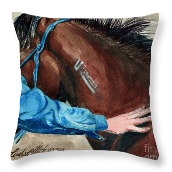 First Touch Throw Pillow by Linda L Martin