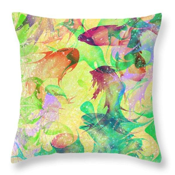 Fish Dreams Throw Pillow by Rachel Christine Nowicki
