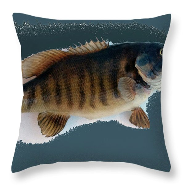 Fish Mount Set 10 B Throw Pillow by Thomas Woolworth