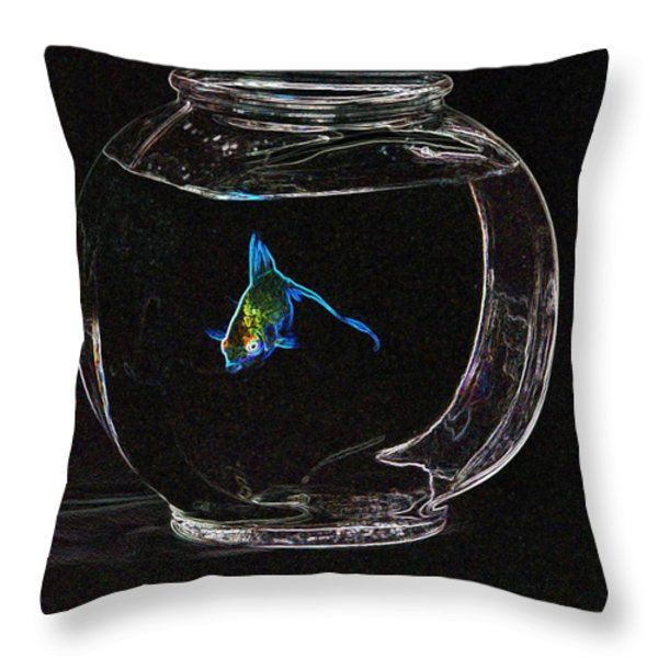 Fishbowl Throw Pillow by Tim Allen