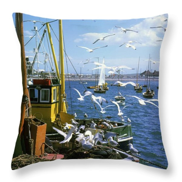 Fishing Boat Throw Pillow by The Irish Image Collection