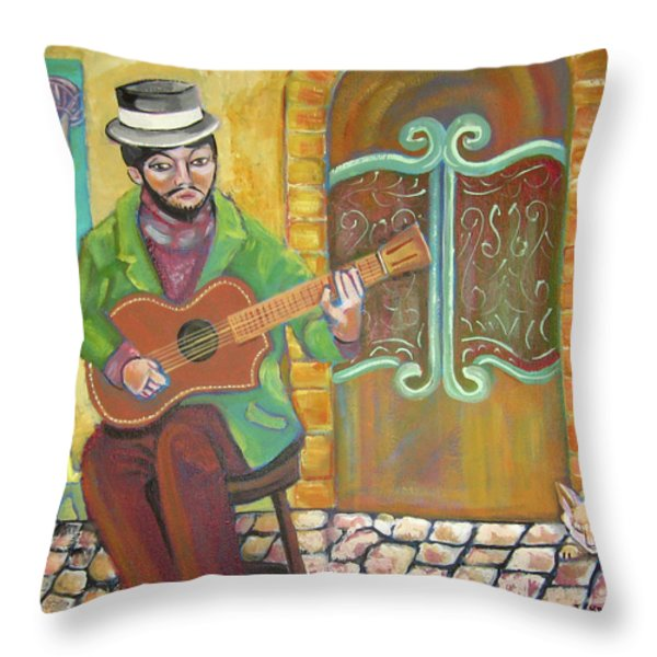 Five O'clock At Cafe Ole Throw Pillow by John Keaton