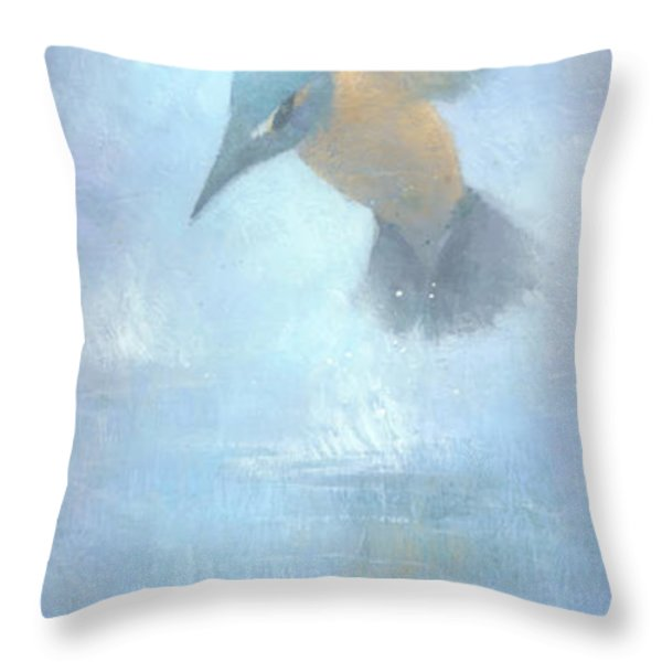 Flame In The Mist Throw Pillow by Steve Mitchell