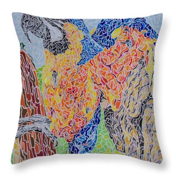 Flapping Color Throw Pillow by Steve Teets