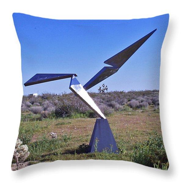 Flight Throw Pillow by John Neumann