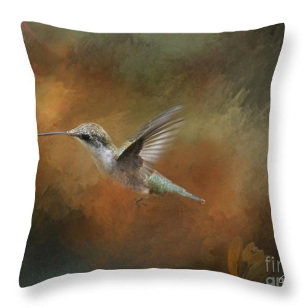 Flight of the Angel  Throw Pillow by Cris Hayes