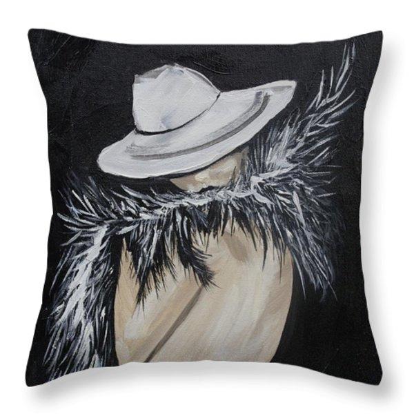 Flirt Throw Pillow by Leslie Allen