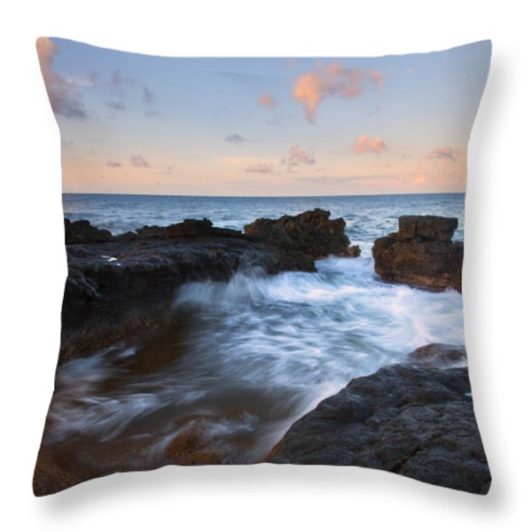 Flooding The Cracks Throw Pillow by Mike  Dawson