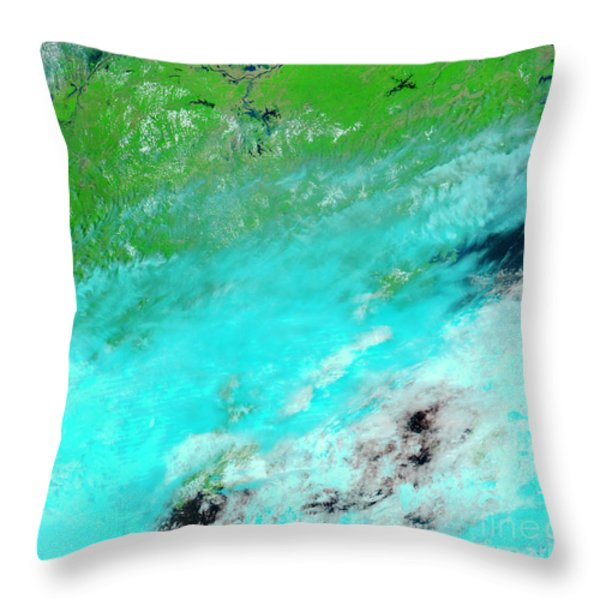 Floods In Jiangxi Province, China Throw Pillow by NASA