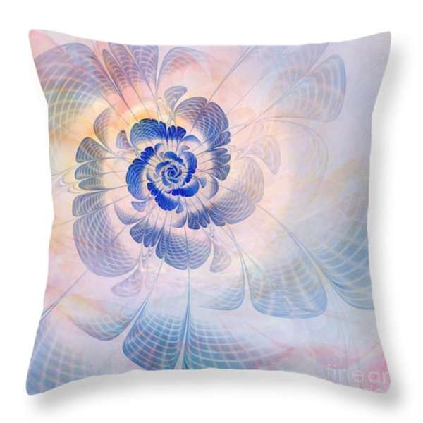 Floral Impression Throw Pillow by John Edwards