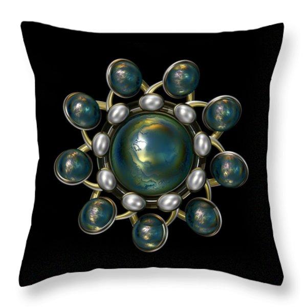 Floral Jewel Throw Pillow by Hakon Soreide
