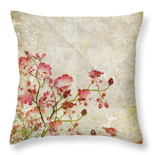 floral pattern Throw Pillow by Setsiri Silapasuwanchai
