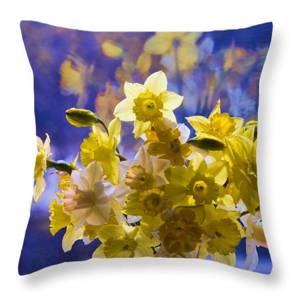 Floral Reflections Throw Pillow by Jo-Anne Gazo-McKim