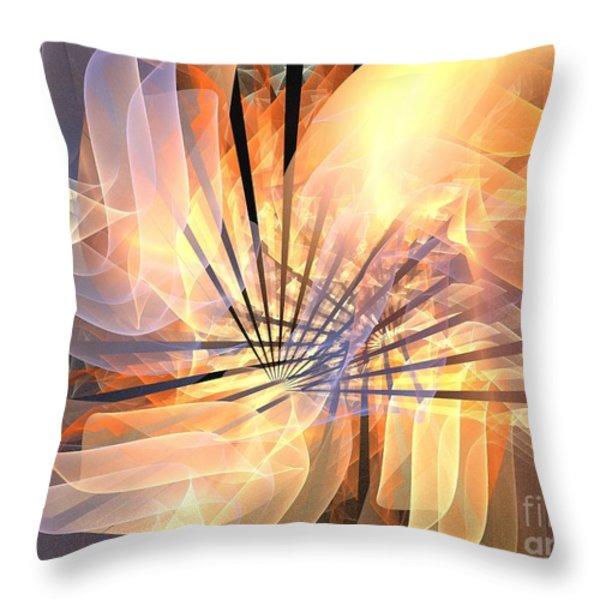 Floral Supernova Throw Pillow by Kim Sy Ok