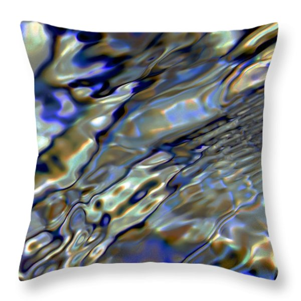 Flow Throw Pillow by Dale   Ford