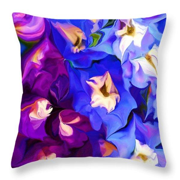 Flower Arrangement 012812 Throw Pillow by David Lane