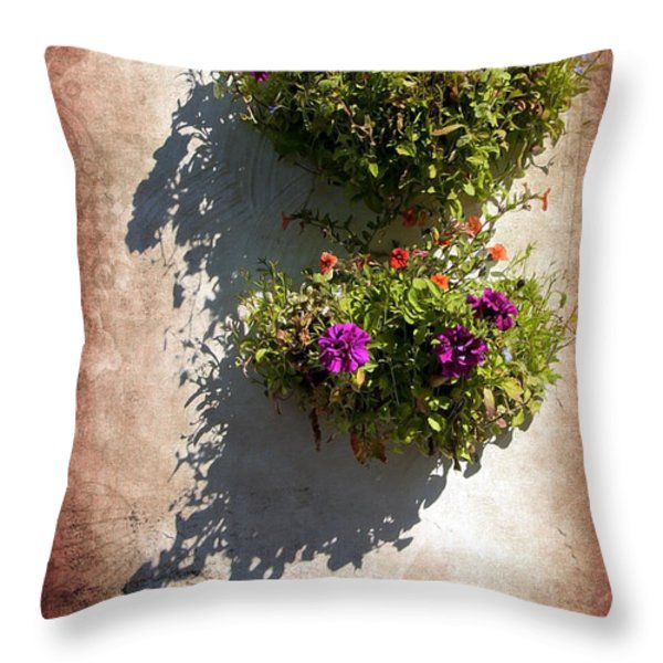 Flower Baskets Throw Pillow by Svetlana Sewell