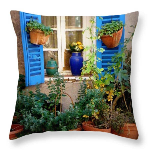 Flower Pots Galore Throw Pillow by Lainie Wrightson