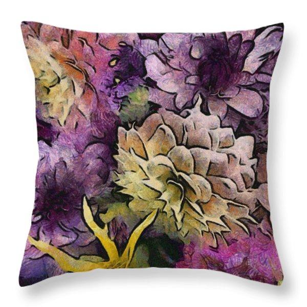 Flower Power Throw Pillow by Trish Tritz
