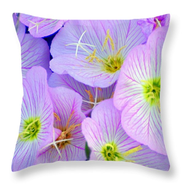 Flowers Flowers Throw Pillow by Marty Koch