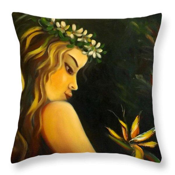 Flowers Of Paradise Throw Pillow by Gina De Gorna