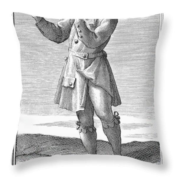 Flute, 1723 Throw Pillow by Granger