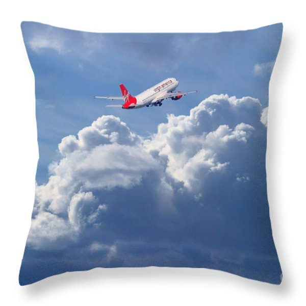 Fly Me To The Moon Throw Pillow by Wingsdomain Art and Photography