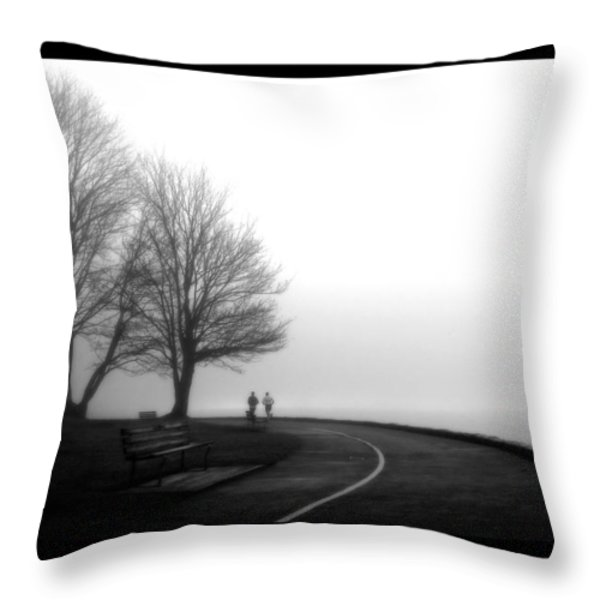 Foggy Day H-2 Throw Pillow by Mauro Celotti