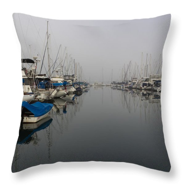 Foggy Morn Throw Pillow by Heidi Smith
