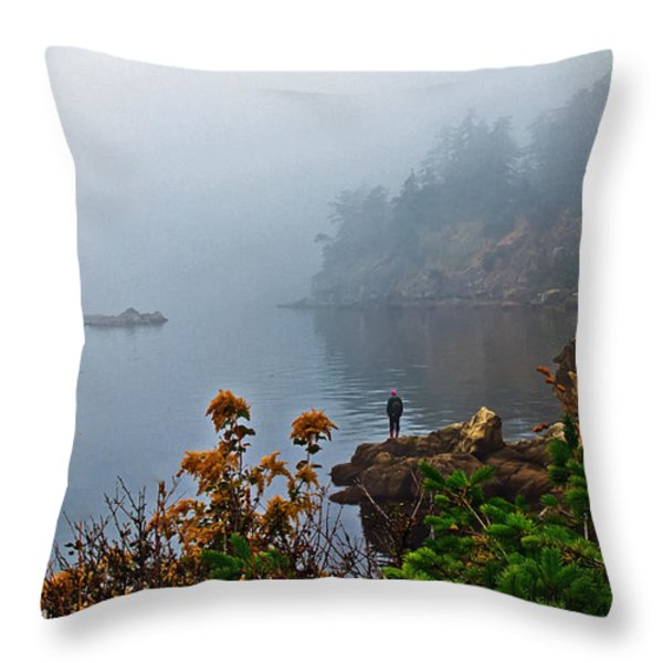 Foggy Morning Throw Pillow by Robert Bales
