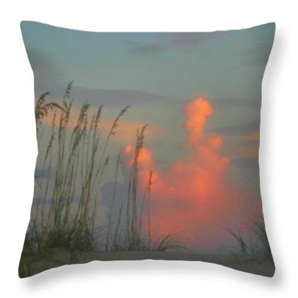 Foggy Oats Throw Pillow by Kristin Elmquist