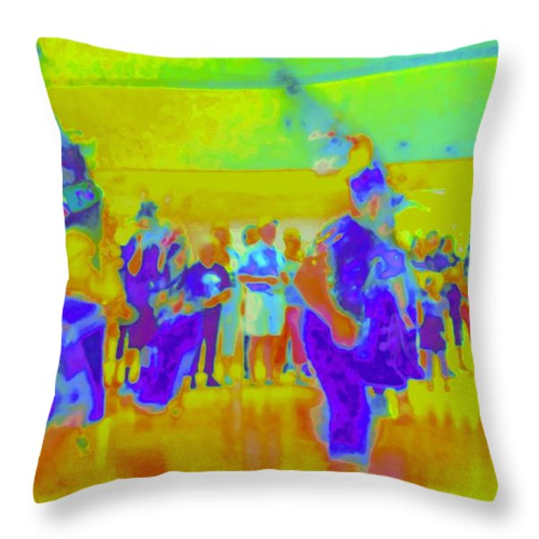 Folklorico 3 Throw Pillow by Randall Weidner