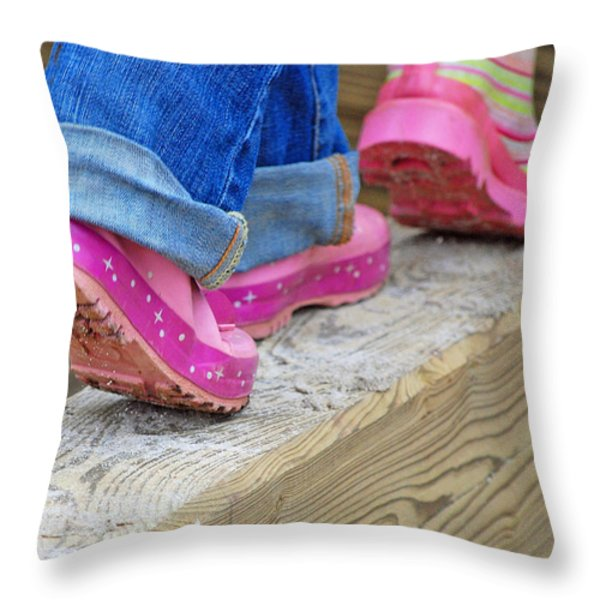 Follow The Leader Throw Pillow by Lisa  Phillips