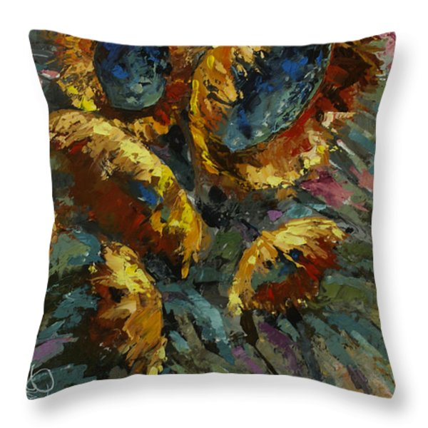 'Follow the Sun 2' Throw Pillow by Michael Lang