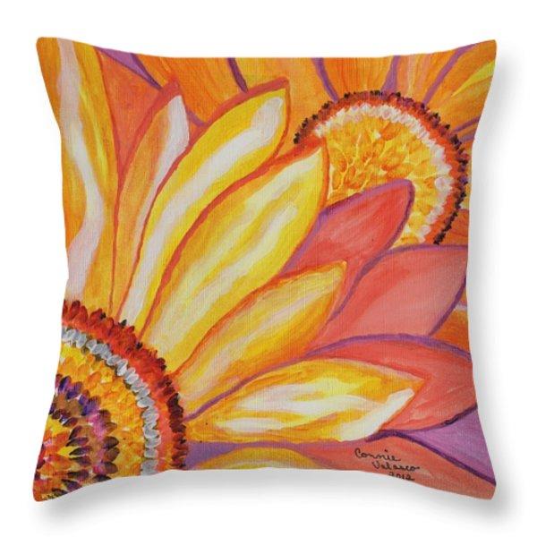 Follow The Sun Throw Pillow by Connie Valasco