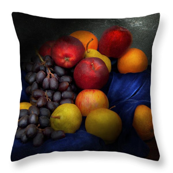 Food - Fruit - Fruit Still Life Throw Pillow by Mike Savad