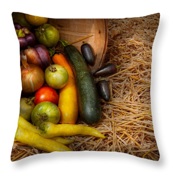 Food - Vegetables - Very Early Harvest Throw Pillow by Mike Savad