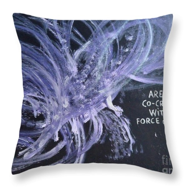 Force of Life Throw Pillow by Piercarla Garusi