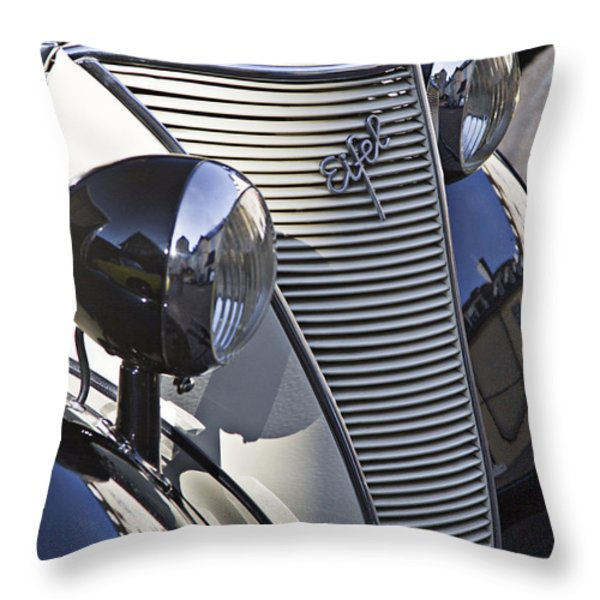 Ford Eifel Cabrio 1939 Classic Car Throw Pillow by Heiko Koehrer-Wagner