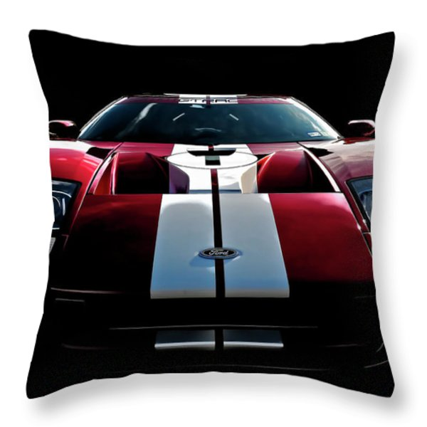 Ford Gt Throw Pillow by Douglas Pittman