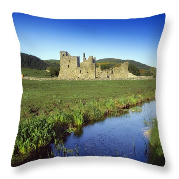 Fore Abbey, Co Westmeath, Ireland Throw Pillow by The Irish Image Collection