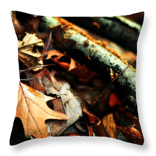 Forest Fade Away Throw Pillow by Rebecca Sherman
