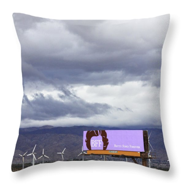 Forever Palm Springs Throw Pillow by William Dey