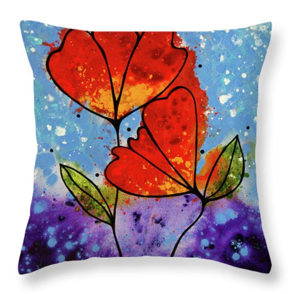Forever Yours Throw Pillow by Sharon Cummings
